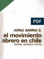 El Movimiento Obrero en Chile. Síntesis histórico-social.