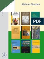 Brill African Studies Catalog 2012