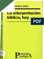 Barton, J., Interpretación bíblica hoy