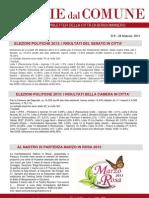Notizie dal Comune di Borgomanero del 28 Febbraio 2013