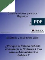 Migracion a Software Libre