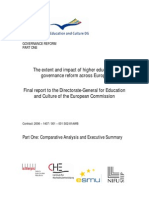 The extent and impact of higher education governance reform across Europe