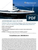 Holland America 140th Anniversary Sale