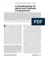 Service Sweethearting - Its Antecedents and Customer Consequences