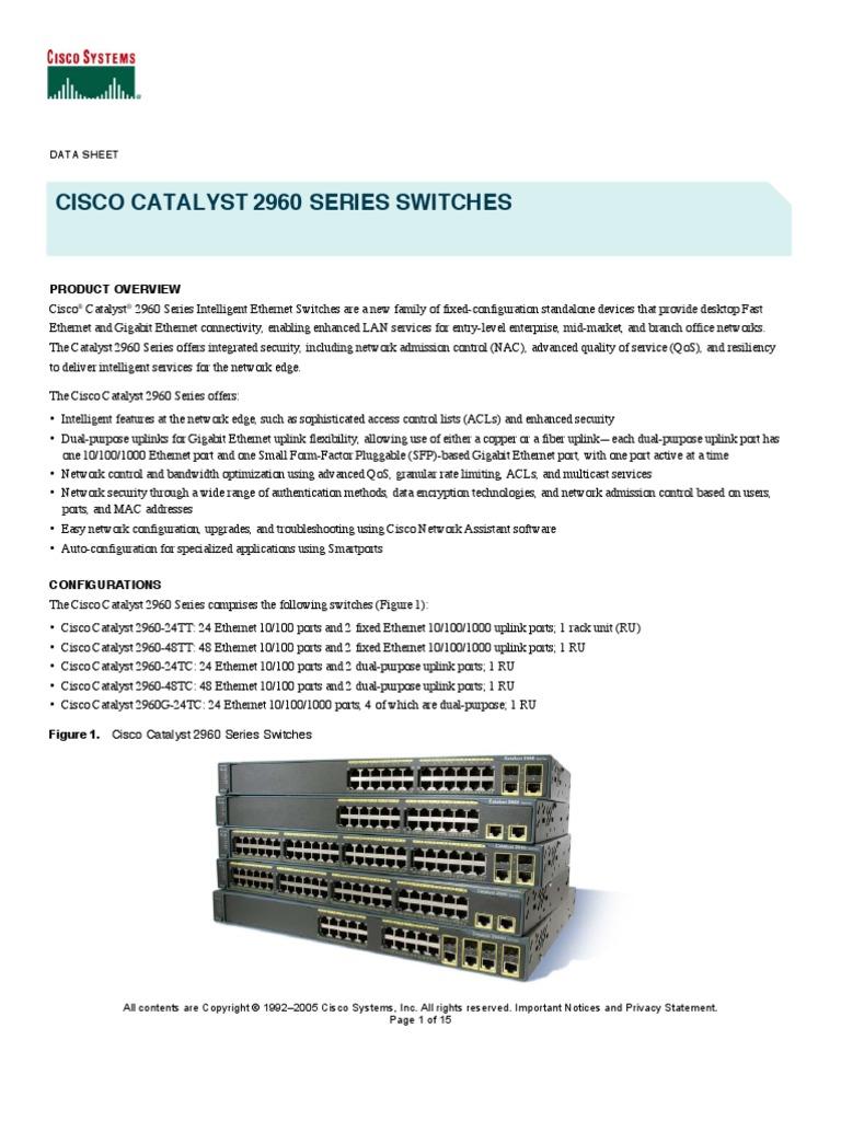 Cisco Catalyst 2Cisco Catalyst 2960 Series Switches960