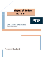 India Budget Highlights 2013-14_D N Sharma