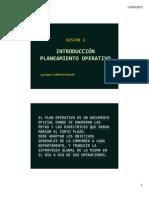 S 2   INTRODUCCIÓN AL PLANEAMIENTO OPERATIVO