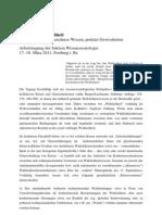 Freiburg 2011-CfP-Wissenssoziologie-Krisen Der Wirklichkeit Doc