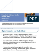 Analysis ofStudent Loan Debt