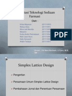Simplex Lattice Design