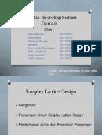 Simplex Lattice Design