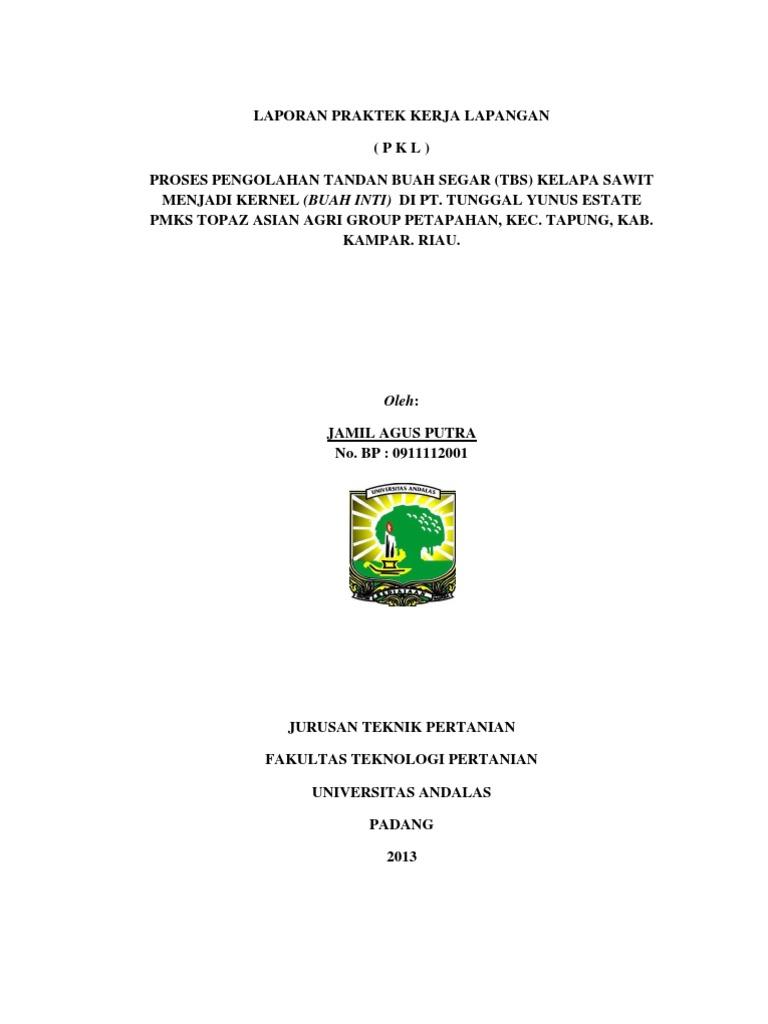 Laporan Pkl Jamil Agus Putra 0911112001