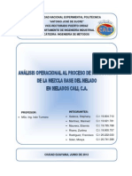 Analisis Operacional Al Proceso Produccion Mezcla Base Del Helado Helados Cali c A