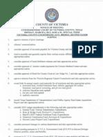 Victoria County Commissioners, March 4, 2013 Agenda