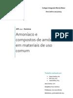 APL 1.1 - Amoníaco e compostos de amónio em materiais de uso comum