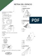 Formulario de Geometria Del Espacio Completo