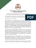 mensaje BENEDICTO XVI MENSAJE DEL CARDENAL UROSA A LOS FIELES.doc