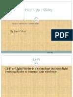 Li-Fi Seminar Report by Zindha Karthi