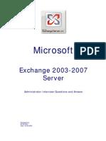 Microsoft Exchange 2003-2007 Admin Interview QA