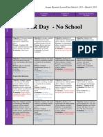 BHS Semester 2 Week 8 Lesson Plans