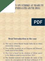 Case Study on Strike at Maruti Suzuki India
