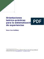Orientaciones Teorico-practicas Para Sistematizar Experiencias Oscar Jara