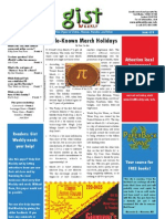 Gist Weekly Issue 13 - Little-Known March Holidays