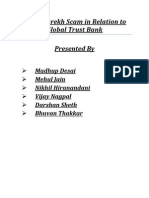 Ketan Parekh Scam in Relation to Global Trust Bank