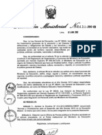 DIRECTIVA INICIO DEL AÑO ESCOLAR 2013
