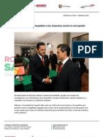 28-02-13 Boletin 1426 Roberto y EPN respaldan a los maestros contra la corrupción