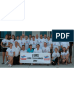 2013 USMS High Performance Camp Brochure