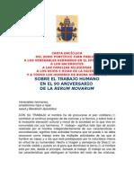 CARTA ENCÍCLICA - LABOREM EXERCENS (TOCA EXPONER)