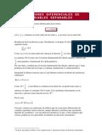 Ecuaciones de Variables Saparables
