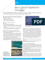 37154669 How to Take a Good Impression Crown and Bridge