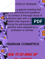 Definition of Seminar