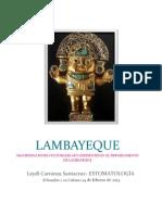 MANIFESTACIONES CULTURALES AÚN EXISTENTES EN EL DEPARTAMENTO DE LAMBAYEQUE
