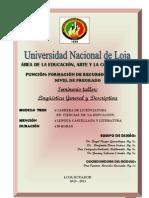Linguistica General y Descriptiva