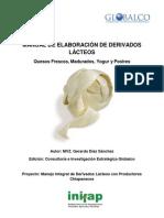 Manual de Elaboracion de Derivados Lacteos Para Publicacion