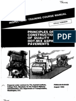 Principles of Construction of Quality Hot-mix Asphalt Pavement