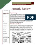 December 2007 Quarterly Newsletter