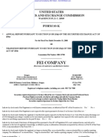 FEI CO 10-K (Annual Reports) 2009-02-20