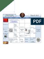 March Calendar 2013