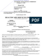 HEALTHCARE SERVICES GROUP INC 10-K (Annual Reports) 2009-02-20