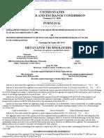 Metavante Technologies, Inc. 10-K (Annual Reports) 2009-02-20