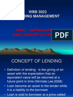 Topic1-Concept of Lending