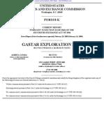 GASTAR EXPLORATION LTD 8-K (Events or Changes Between Quarterly Reports) 2009-02-20