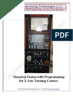 Fusion640t Programming, Online, Summary