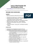Travaux Pratiques de Microbiologie