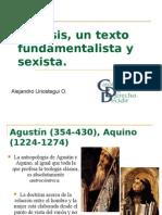 Génesis, un texto fundamentalista y sexista