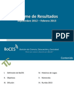 Informe de Resultados Sep 2012- Feb 2013